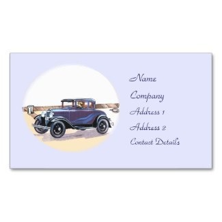 1920s Vintage Automobile Sedan Business Card