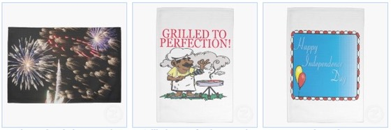 4th July Fireworks and BBQ Kitchen Towel
