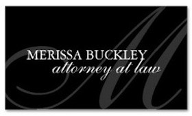 Professional Attorney Business Card in Black and White