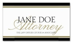 Attorney Lawyer Business Card in Gold and Black Script