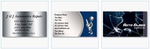 auto repair business cards auto glass repair