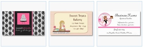 Bakery catering cook and chef customizable business cards bakery business card pastry cupcake card reheart Gallery