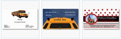 bus driver, school bus, coach business card