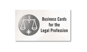business cards for the legal profession, Scales of justice and attorney law offices