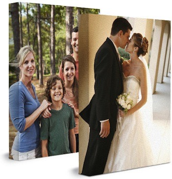 Turn wonderful memories into masterpieces with your family or wedding photographs printed onto wrapped canvases