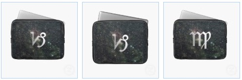 capricorn and virgo universe laptop sleeves