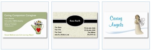 caregiver home health caring angel business card