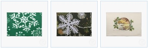 christmas snowflake placemats and vintage victorian placemats