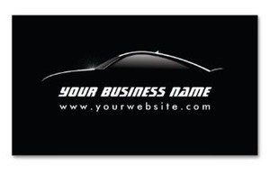 Car Outline Auto Repair business card