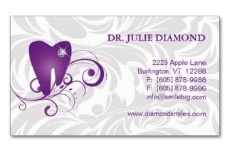 Medical and healthcare business card templates dental business card or appointment card with a cute gem studded molar tooth or your colourmoves
