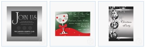 Elegant and Classy Office Party Invitations, for Company and Business Christmas parties
