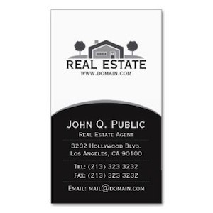 This real estate business card design includes a logo, and your company details, with an image of  a house that you can replace with your own.