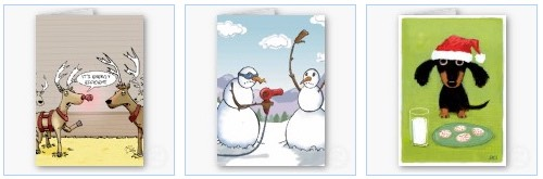funny christmas cards with reindeer and snowmen
