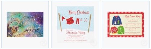 Funny Christmas Party Invitation Cards with Santa