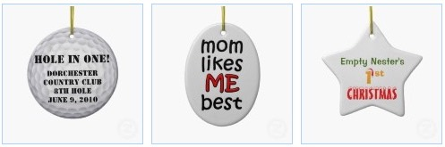 funny ornaments with a golf ball, Mom likes me best christmas ornament