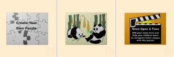 create your own, panda, Once upon a time, puzzle