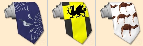 terns on tie, patriotic , welsh dragon, daffodil yellow, camel tie