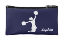 Cheerleader's cosmetic and makeup bag. Show off your team spirit on days and nights out with the girls.