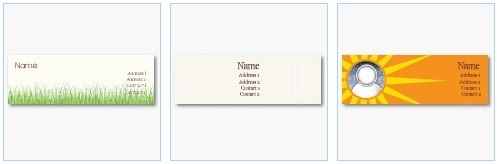 grass growing, simple lines and rays of sun on orange business cards by Zazzleprofilecards