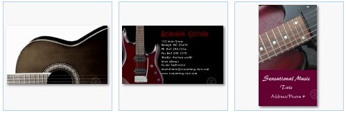 guitar business cards electric acoustic