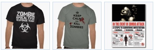 Zombie Apocalypse Response Team T Shirt, Keep Calm and Kill Zombies T shirt, In the event of a zombie attack poster