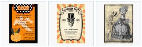 halloween party invitations birthday vintage gothic