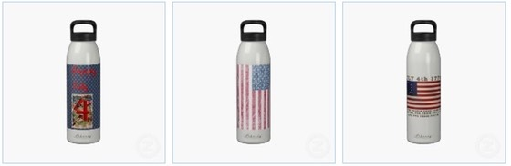 July 4th Water Bottle, Independence Day Water Bottle
