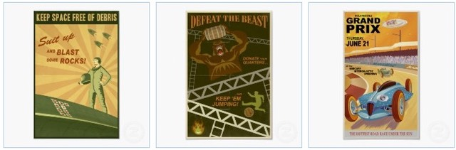 keep space free of debris poster, defeat the beast and a retro Grand Prix vintage poster from Artsprojekt