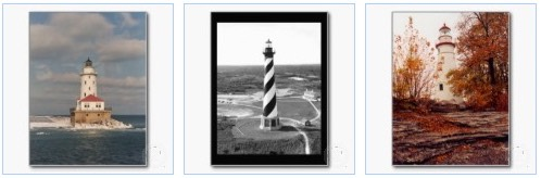 Lake Michigan, Cape Hatteras, and Marblehead Lighthouse Postcards