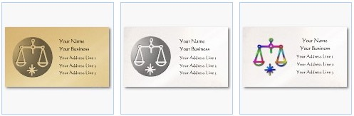libra scales of justice zodiac business card
