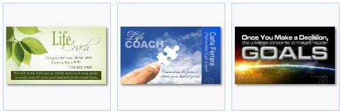 life coach spiritual counseling business card