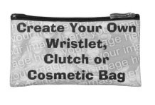 Create your own wristlet or cosmetics bag at low cost with your photos and text