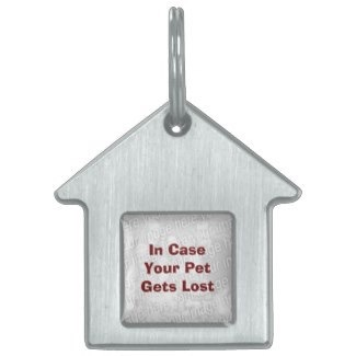 Create Your Own Pet Recovery Tag