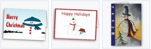 merry christmas snowman and happy holidays snowman greeting card