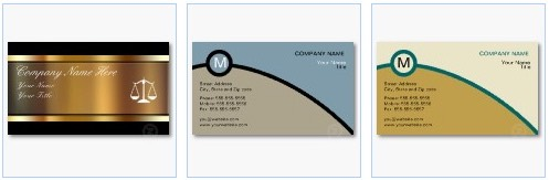 monogram scales attorney business card