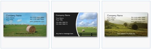 farm sales, country sales and estate sales business cards