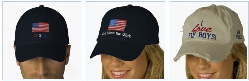 Patriotic American Air Force Embroidered Hats