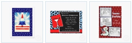 Patriotic American Flag, Red White and Blue Party Invitations and Invitations to honor troops serving overseas