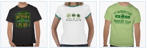personalized irish pub sign T shirt,  peace love beer,  and st patricks drinking team T shirts