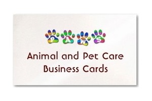 rainbow paws animal pet care business cards
