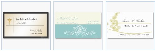 physician business card medical doctor profile card