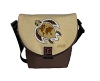 Cute World Map Turtle on a Mini Messenger Bag at low cost