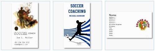 soccer coaching business card
