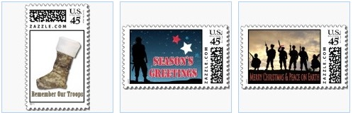 soldier stocking stamp and soldier christmas stamps for military troops overseas