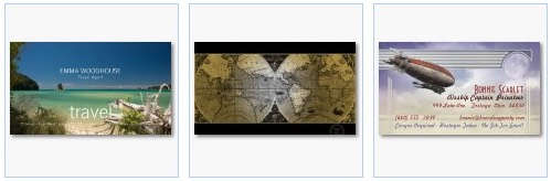 south seas world map travel agent business card