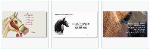 stallion horse farrier business card
