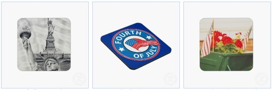 statue of liberty July 4th drinks coasters