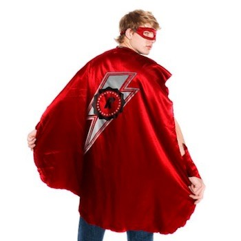 Be a Superhero this Halloween and wear a cape and mask for daring deeds. For kids and adults of all ages. Choose your cape and mask to hide your identity in a ranges of colors.