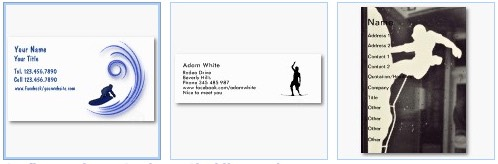 surfing extreme sports rock climbing business card