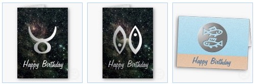 taurus universe pisces zodiac happy birthday cards